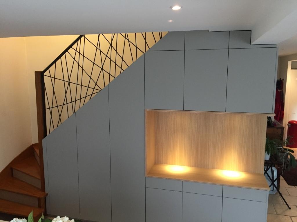 rangement sur mesure sous escalier à brest le-conquet plouzané le relecq-kerhuon plougastel guipavas saint-renan dans le finistère