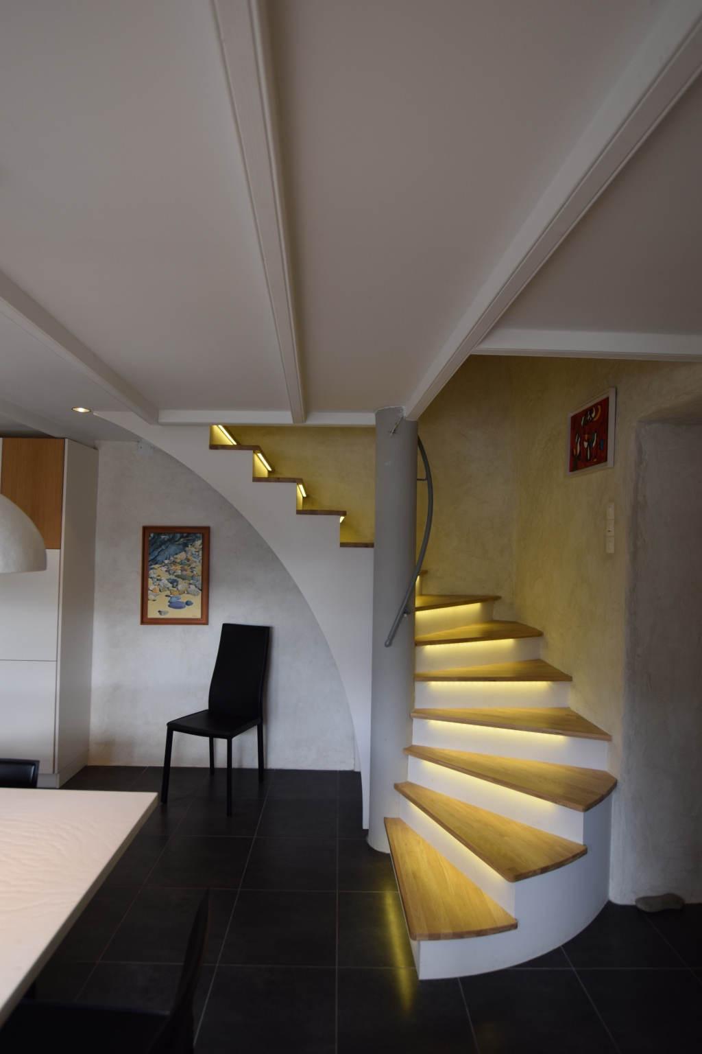 escalier béton et bois à brest au-conquet plouzané le relecq-kerhuon plougastel guipavas saint-renan dans le finistère
